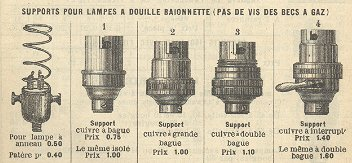 Supports pour lampes à incandescence (vers 1900)